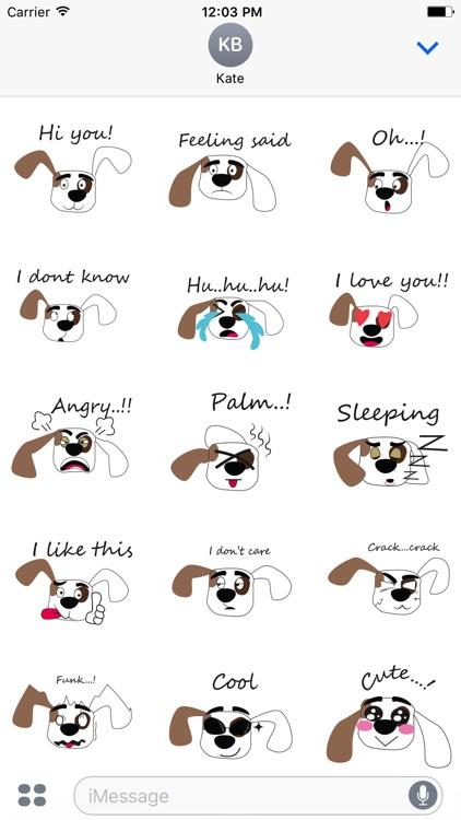 Puppy face emojis