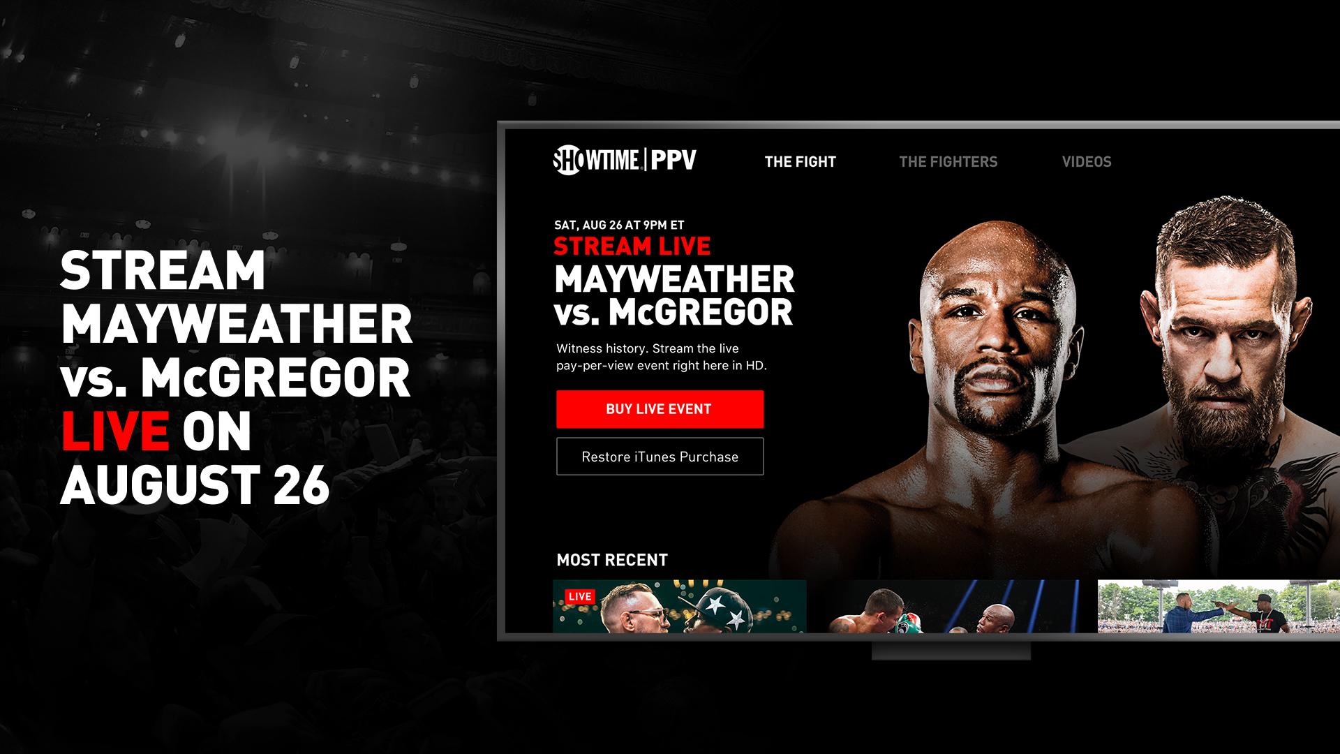 SHOWTIME PPV- Mayweather vs. McGregor- Stream Live screenshot 9