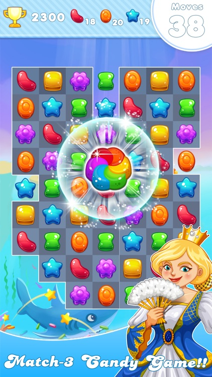 Candy Frozen Match 3 Puzzle screenshot-3