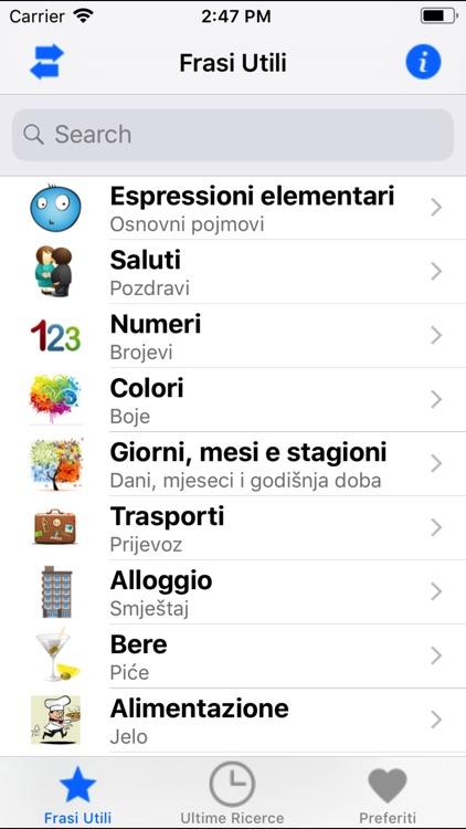 Frasi utili italiano-croato screenshot-4