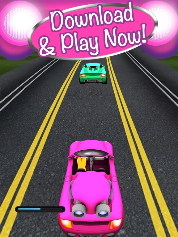 Screenshots of 3D Girl Convertible Car Racing Game With Cute Girly Cars And Fun Race Games FREE for iPad