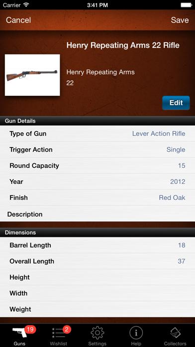 Gun Firearm Ammo Database screenshot two