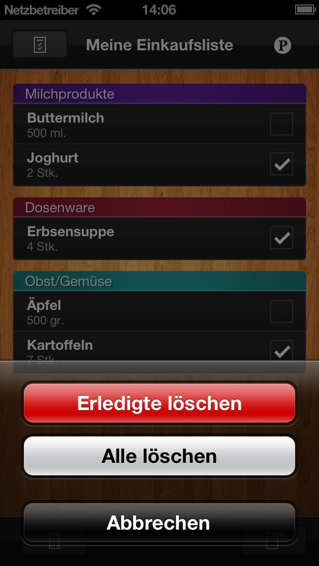 ShopList - EinkaufslisteScreenshot von 2