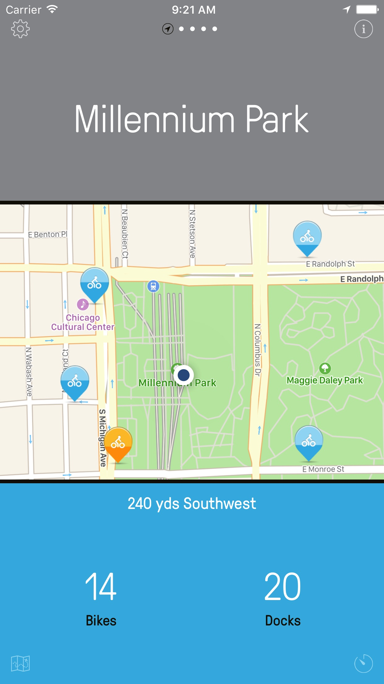 Chicago Bikes — A One-Tap Divvy Bike App Screenshot