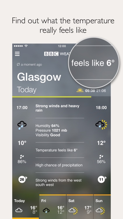 BBC Weather screenshot-2