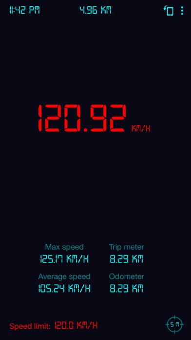 Screenshot of Tachimetro GPS: contachilometr2