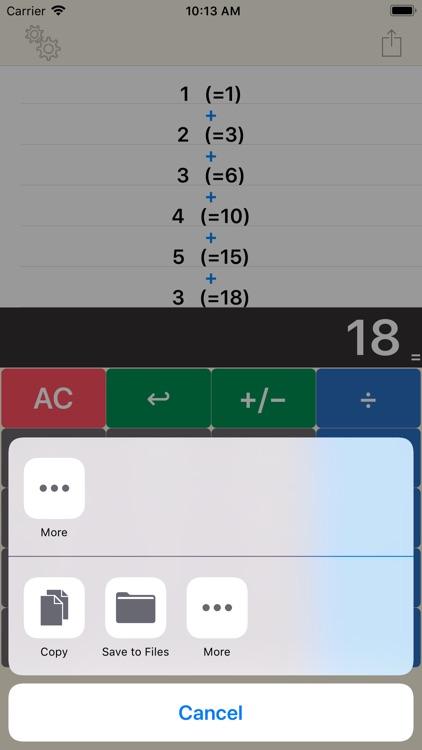Calculator plus editable by Yudai Fukuda