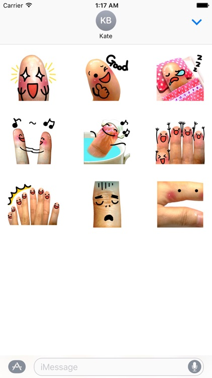 Animated Funny Fingers Sticker
