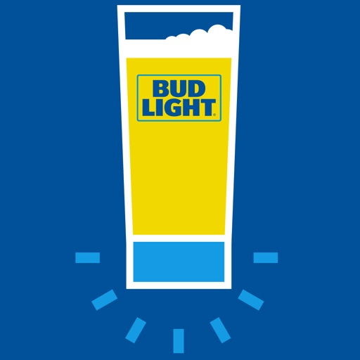 Bud Light Touchdown Glass Icon
