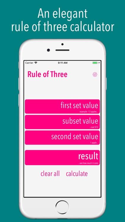 Three (Rule of 3 Calculator)