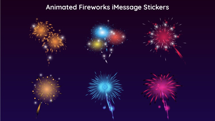 Animated Fireworks Party Text screenshot-4