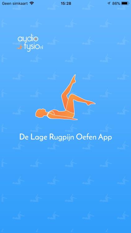 Lage Rugpijn Oefeningen App