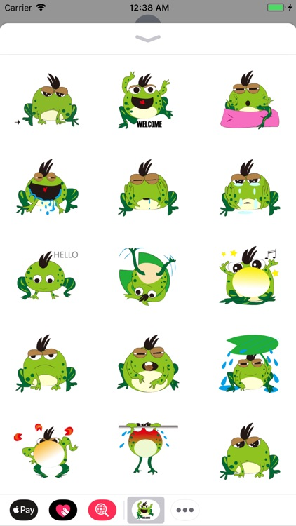 Green Frog Animated Stickers