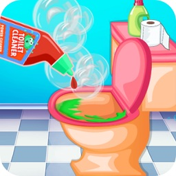 Bathroom Cleaning - Pick up trash and help wash