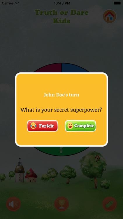 Truth Or Dare Kids Game screenshot-4
