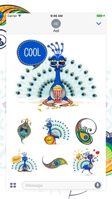 Peacock Stickers screenshot one