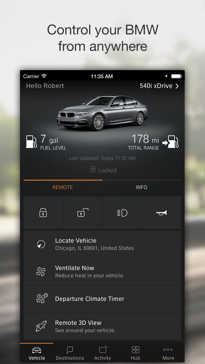 BMW Connected Screenshot