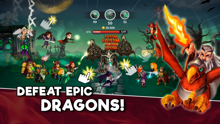 Tap Dragons - Clicker Heroes RPG Game