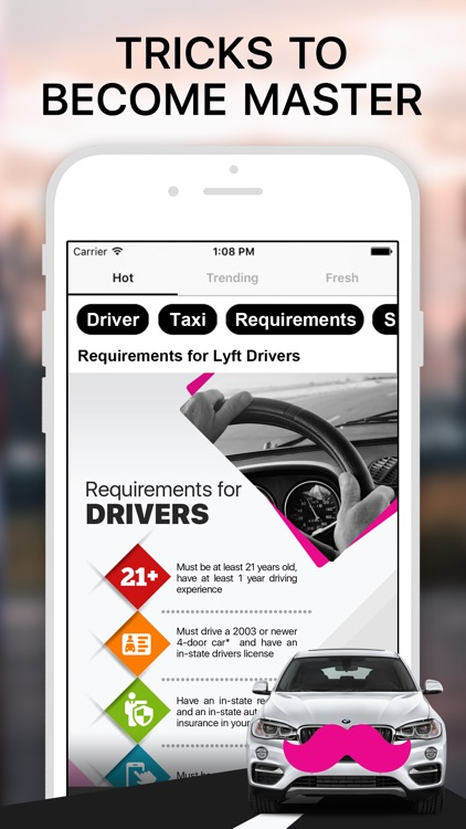 Driver for Lyft Taxi Guide