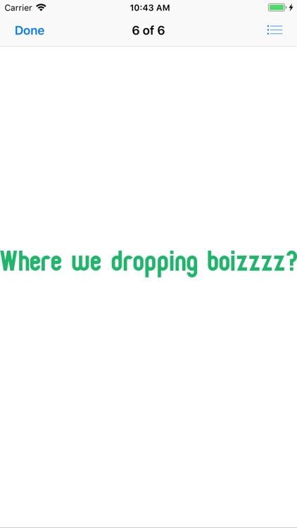 Bushy Boy Gaming Phrases