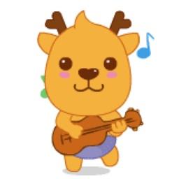 Cute Reindeer Stickers Pack