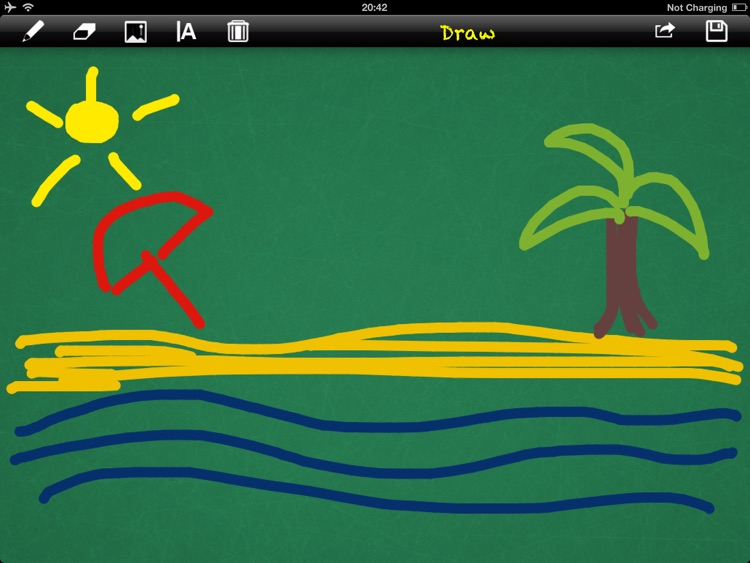 Draw for iPad with fingers