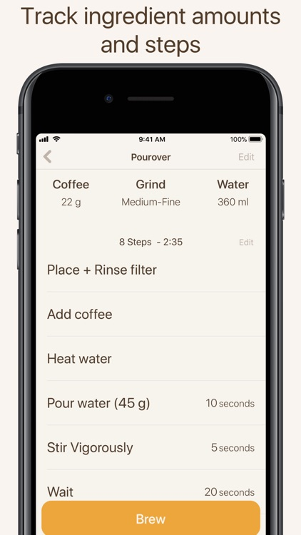 Brew Timer - Coffee Recipes screenshot-3