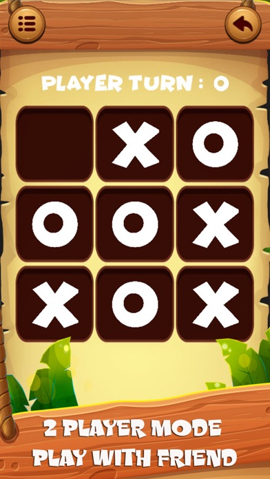 XO Tic tac toe ! Wooden screenshot one