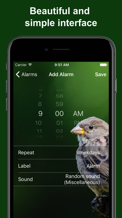 Bird Alarm Clock & Sleep Sound screenshot-3