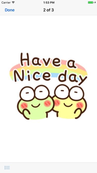 Very Cute Frog Emoji Sticker screenshot 2