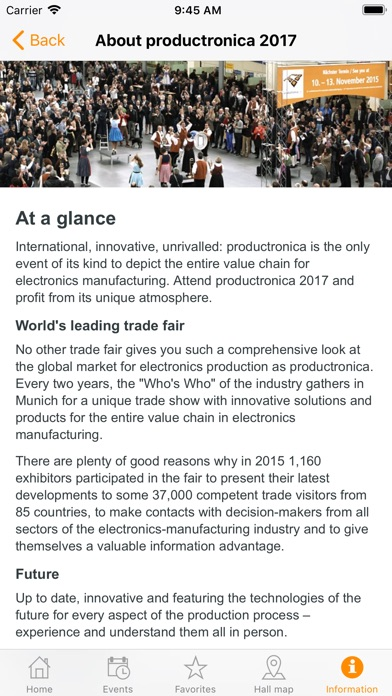 Image of productronica for iPhone