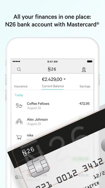 N26 – The Mobile Bank screenshot-0