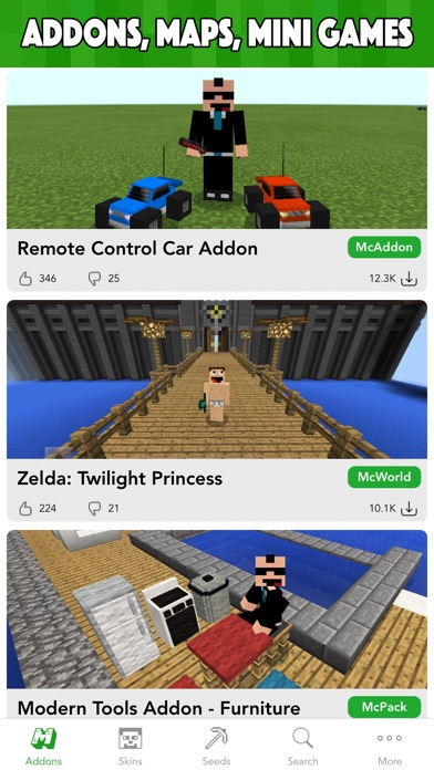 MCPE Planet - Addons, Maps, Skins for Minecraft PE app image