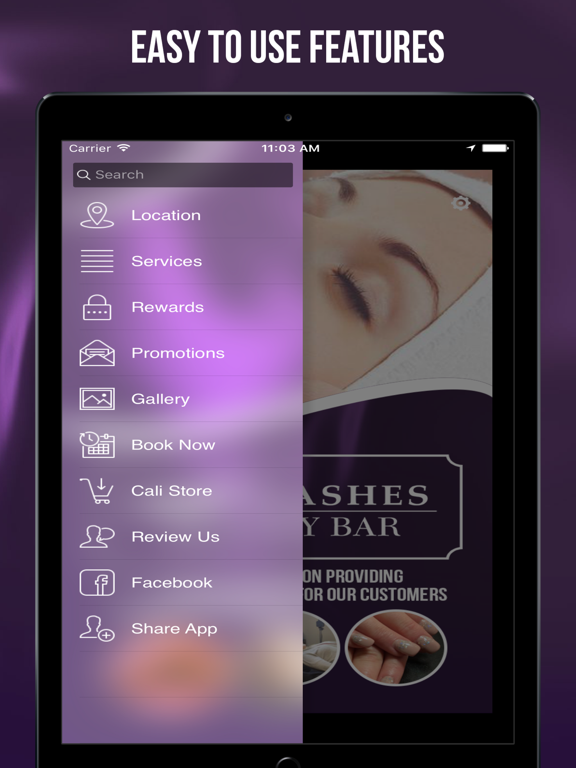 Cali Lashes Beauty Bar-ipad-1