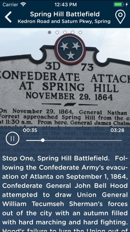 Maury County Civil War Tour screenshot-3