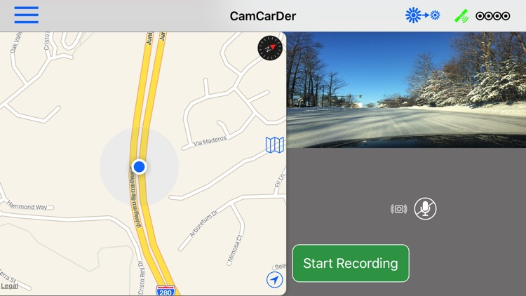 CamCarDer - GPS/G-force car dash camera recorder