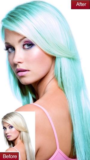 app som ändrar hårfärg