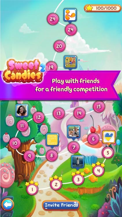 Sweet Candies 2 - Huge Match 3 screenshot-4