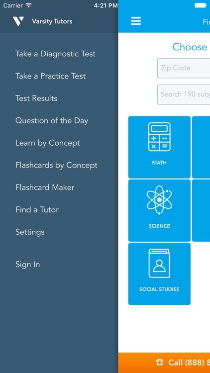 Mobile Learning Tool - Varsity Tutors