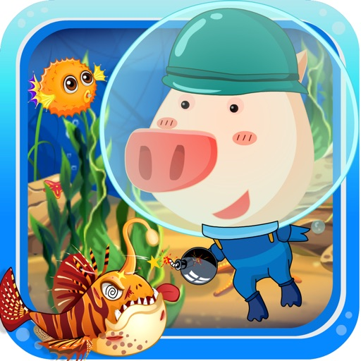 Download PiggyBombing SeaMonster free for iPhone, iPod and iPad