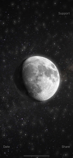 Moon current moon phase on the app store screenshots sciox Image collections