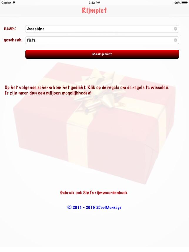 Rijmpiet Sinterklaas In De App Store