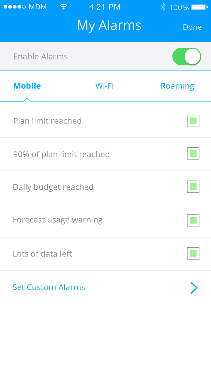 My Data Manager - Track Usage Screenshot
