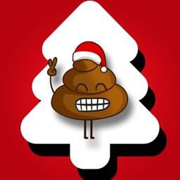 Christmas Poo Stickers
