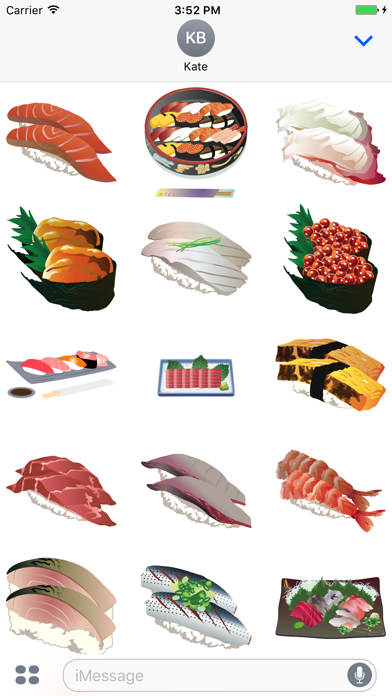点击获取Sushi Stickers - Yum!