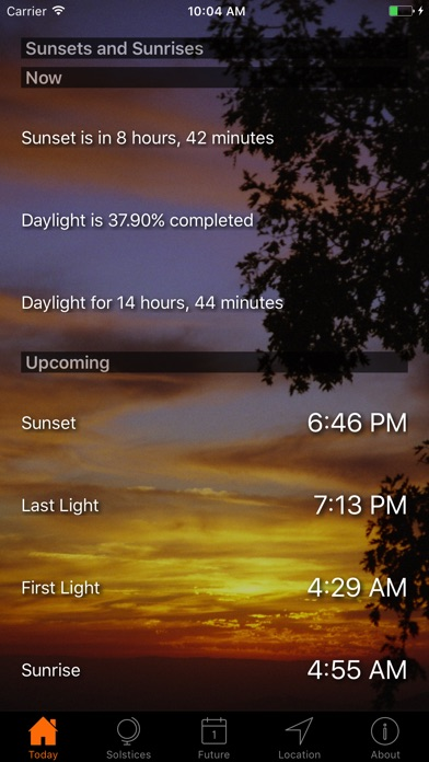 Screenshot #6 for Sunset and Sunrise Times