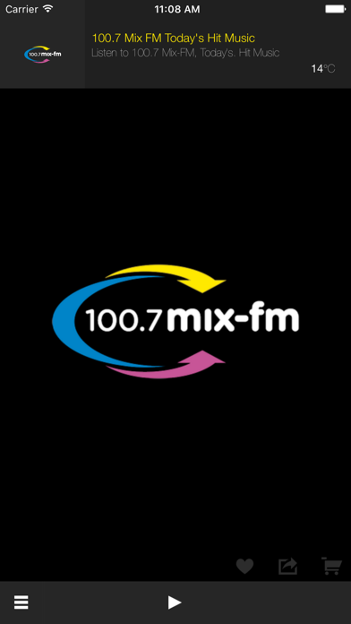 100.7 Mix FM Todays Hit Music screenshot one