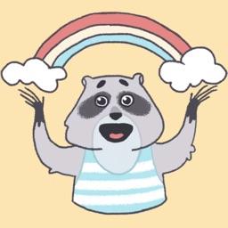 Raccoon Tom Stickers