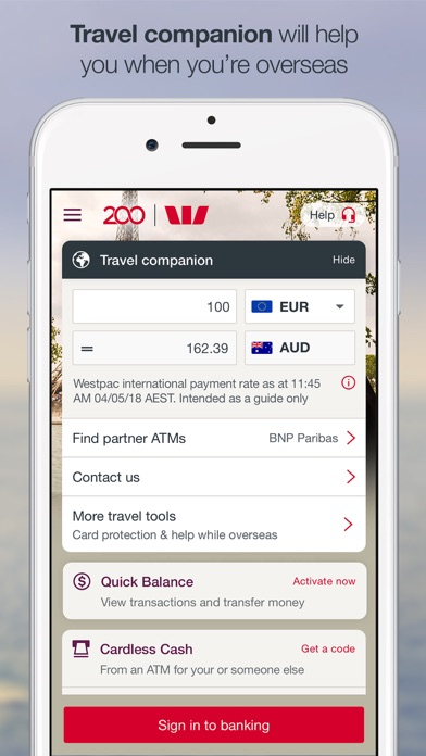 Westpac Mobile Banking screenshot four