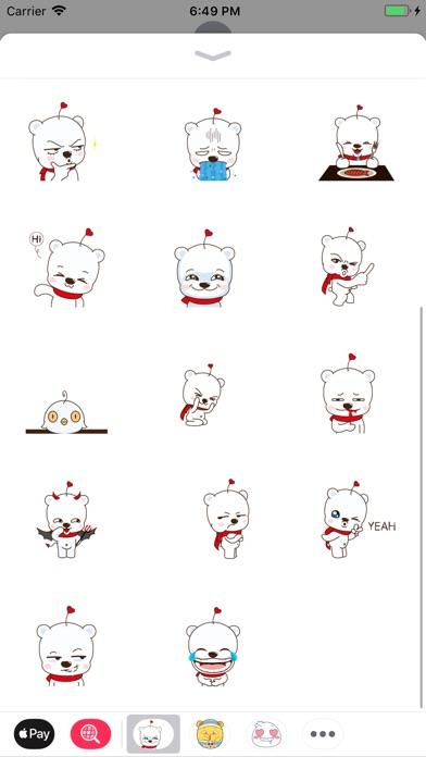 Screenshot of Stuffed Bear Stickers Pack App